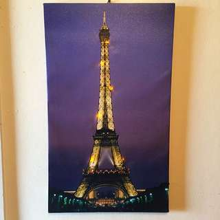 Light Up Twinkle Eiffel Tower Canvas
