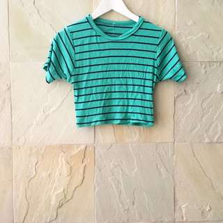 Cropped Stripes Top