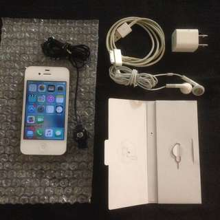 White IPhone 4s 16 GB $30