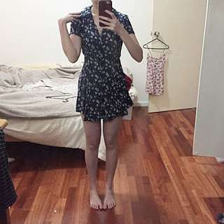 Kimchi Blue (urban Outfitters) Cute Summer Shirt Dress