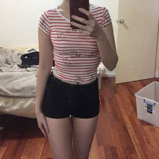 Sailor Themed Crop Top