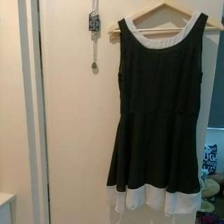 Black & White Chiffon Dress