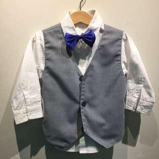 3-4yo Grey 2 Piece Suit