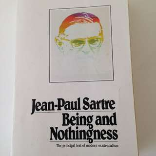 Jean Paul Sartre Being And Nothingness Book
