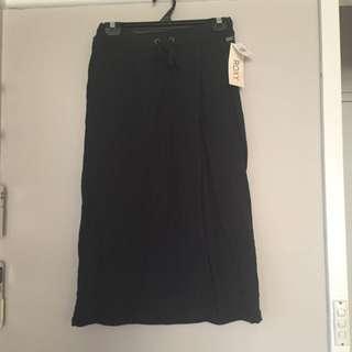 Black Midi Roxy Skirt