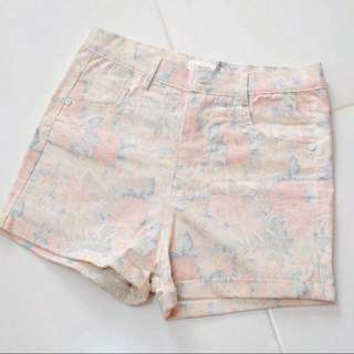 GOWIGASA Hi-waist flower shorts