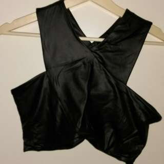 Supre Faux Leather Crop Top