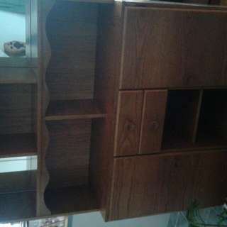 Wall Unit Large Solid Heavy Top Part Csn Come Off.perfect Condition