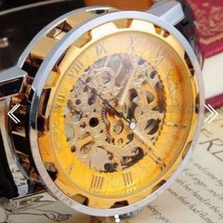 BN Winner Skeleton Gold Watch (Stainless Steal + Mechanical)