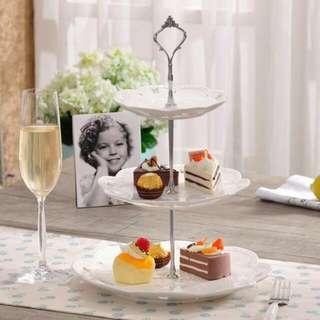 Set 3 Tiers Cake Plate
