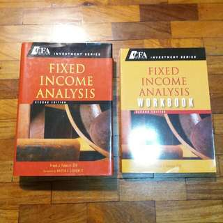 Free Ship: CFA Institute Investment Series - Fixed Income Analysis Textbook + Workbook