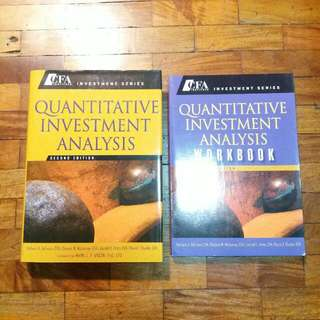 Free Ship: CFA Institute Investment Series - Quantitative Investment Analaysis Textbook + Workbook