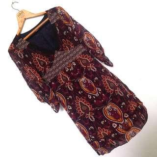 Max & Co. Paisley Print 100% Silk Dress