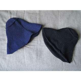 日本小眾品牌 簡約針織漁夫帽