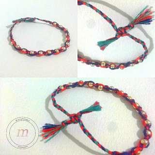 Emily gold beaded,  thread bracelet
