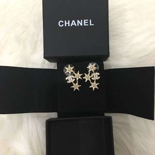 Chanel Limited Edition Gold Star Earrings