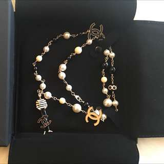 Chanel New Coco Man Long Pearl Necklace