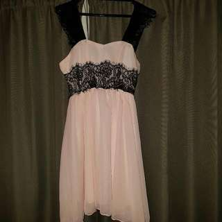 Gorgeous Pink Chiffon Dress Size 10