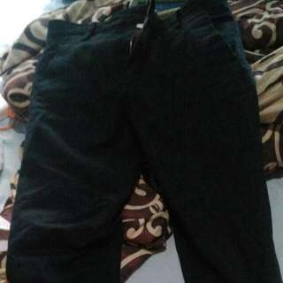 celana Chino double faced Hitam dan Khaki