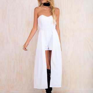 White Semi Formal Playsuit