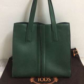 TOD'S TOTE BAGE (GREEN)