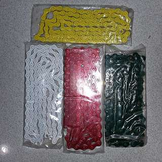 "Fixie And Bmx Chains 1/2"" X 1/8"" 114 Links For Single Speed Bikes"