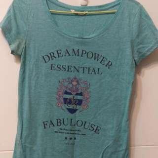 NET 藍綠色短袖T恤