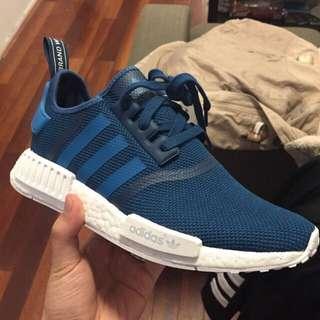 Adidas NMD R1 Mesh Size US 7 Unity Blue/White