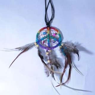 Peace Dream Catcher Necklace