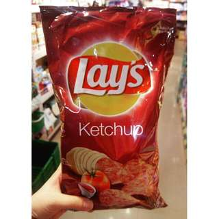 Lay's Ketchup Chips 蕃茄汁味薯片180g