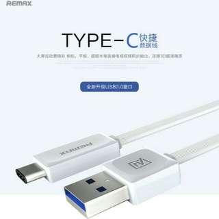 Kabel Data Remax Original untuk type USB C
