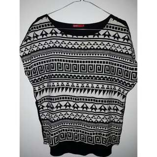 Tribal Cropped Tee by LOGO