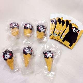 Shine-g 熊本熊冰淇淋吊飾全套/扭蛋