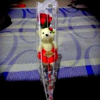 可愛熊玫瑰花香皂束🎁🎊