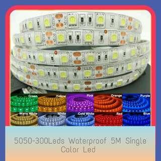 5050 Waterproof 5M Single Color 300Leds 12V Led Strip Lights  For Enquiry Pls Msg To Mobile No. 92325050