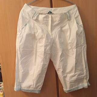 Beartwo 海洋風可愛五六分燈籠褲