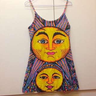 🇧🇷帶回嬉皮太陽細肩小洋裝