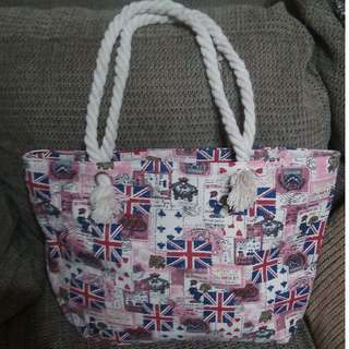 England Inspired Tote Bag (Canvas)