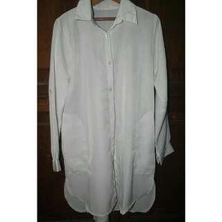 [REPRICE] Midi White Shirt