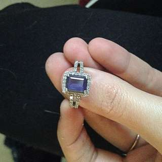 REAL AMETHYST RING