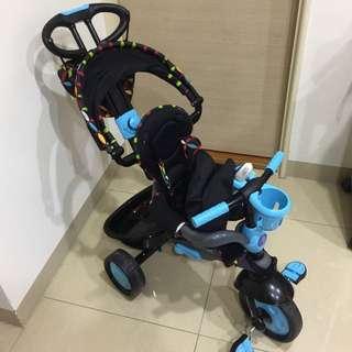 史崔克幼嬰四合一觸控三輪車