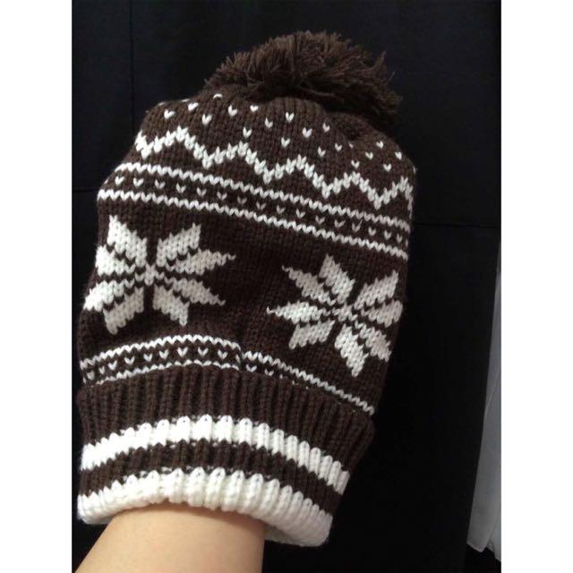 咖啡聖誕葉毛帽