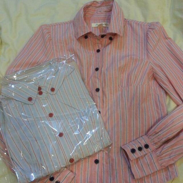 直紋 襯衫