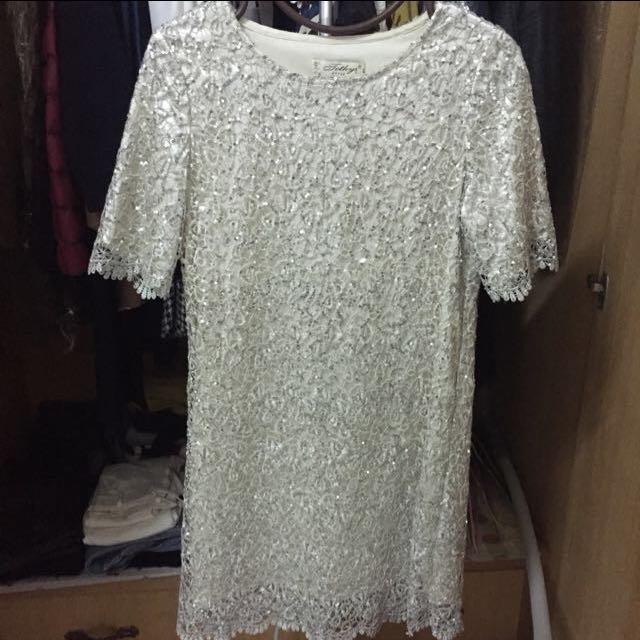 蕾絲亮片 洋裝 伴娘服