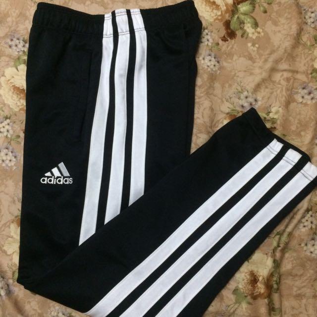 (暫售)Adidas Vintage 黑白運動長褲