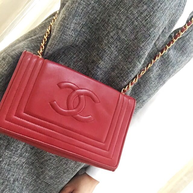 109e576df2e6 SOLD TO PROMPT BUYER 😀 Authentic Chanel Deep Wine Red Mini Single ...
