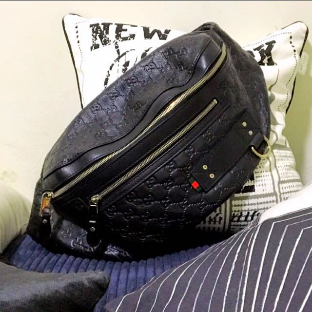 6e0d21867aba80 AUTHENTIC GUCCISSIMA BELT bag, Luxury, Bags & Wallets on Carousell