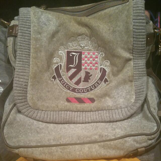 Authentic Rare Juicy Couture Preppy School Messenger Bag