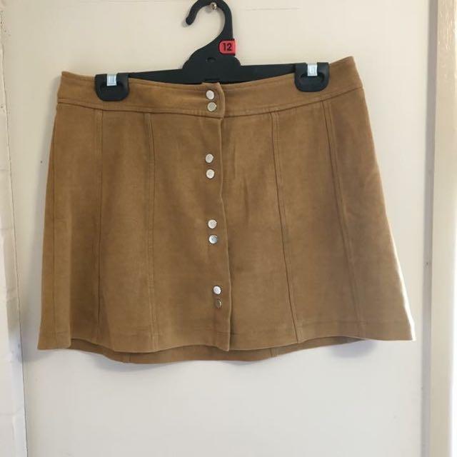 Bardot Suede Skirt