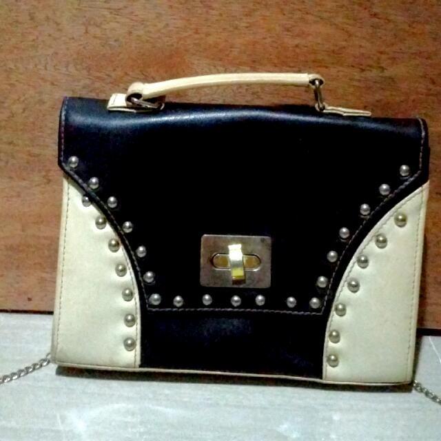 Black And White Box Bag